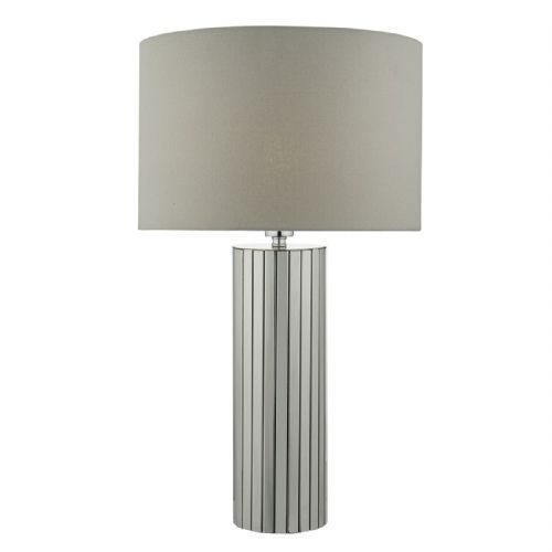 CASSANDRA Table Lamp Polished Chrome Complete With Shade CAS4250 (Class 2 Double Insulated)